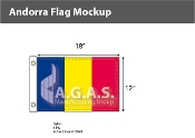 Andorra Flags 12x18 inch (no seal)