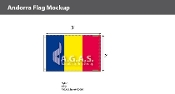 Andorra Flags 2x3 foot (no seal)