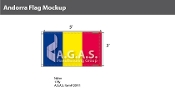 Andorra Flags 3x5 foot (no seal)