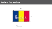 Andorra Flags 4x6 foot (no seal)