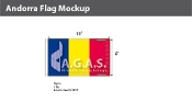 Andorra Flags 6x10 foot (no seal)