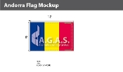 Andorra Flags 8x12 foot (no seal)
