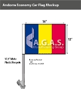 Andorra Car Flags 12x16 inch Economy (no seal)