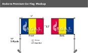 Andorra Car Flags 10.5x15 inch Premium (no seal)