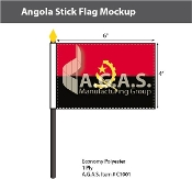 Angola Stick Flags 4x6 inch