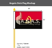 Angola Stick Flags 12x18 inch