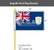Anguilla Stick Flags 12x18 inch