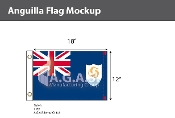 Anguilla Flags 12x18 inch