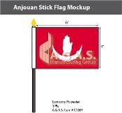 Anjouan Stick Flags 4x6 inch