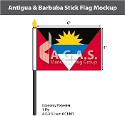 Antigua & Barbuda Stick Flags 4x6 inch
