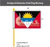 Antigua & Barbuda Stick Flags 12x18 inch