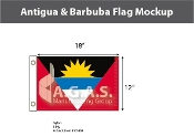 Antigua & Barbuda Flags 12x18 inch