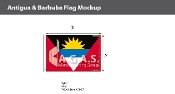 Antigua & Barbuda Flags 2x3 foot