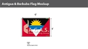 Antigua & Barbuda Flags 4x6 foot