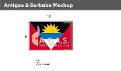 Antigua & Barbuda Flags 8x12 foot
