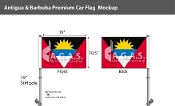Antigua & Barbuda Car Flags 10.5x15 inch Premium