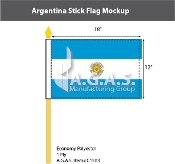 Argentina Stick Flags 12x18 inch (with seal)