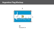 Argentina Flags 2x3 foot (with seal)