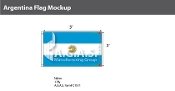 Argentina Flags 3x5 foot (with seal)