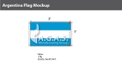 Argentina Flags 3x5 foot (no seal)