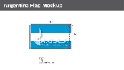 Argentina Flags 6x10 foot (no seal)