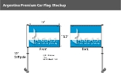 Argentina Car Flags 10.5x15 inch Premium (no seal)