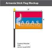 Armenia Stick Flags 4x6 inch