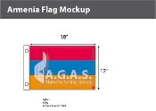 Armenia Flags 12x18 inch