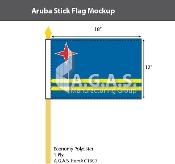 Aruba Stick Flags 12x18 inch