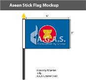 Asean Stick Flags 4x6 inch