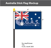 Australia Stick Flags 4x6 inch