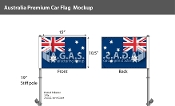 Australia Car Flags 10.5x15 inch Premium