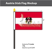 Austria Stick Flags 4x6 inch (with seal)