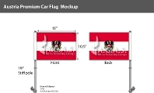 Austria Car Flags 10.5x15 inch Premium (with seal)