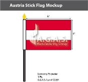 Austria Stick Flags 4x6 inch (no seal)