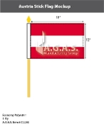 Austria Stick Flags 12x18 inch (no seal)