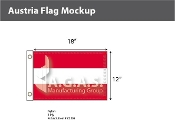 Austria Flags 12x18 inch (no seal)