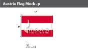 Austria Flags 8x12 foot (no seal)