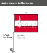 Austria Car Flags 12x16 inch Economy (no seal)