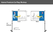 Azores Car Flags 10.5x15 inch Premium