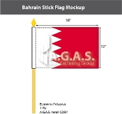 Bahrain Stick Flags 12x18 inch