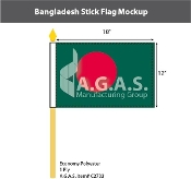 Bangladesh Stick Flags 12x18 inch