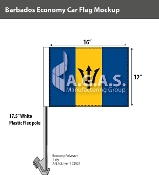 Barbados Car Flags 12x16 inch Economy