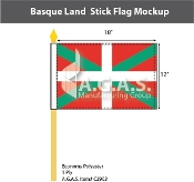 Basque Lands Stick Flags 12x18 inch