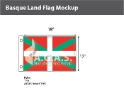 Basque Lands Flags 12x18 inch