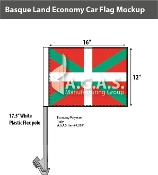 Basque Lands Car Flags 12x16 inch Economy
