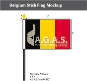 Belgium Stick Flags 4x6 inch