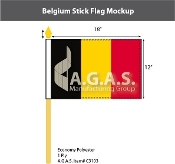 Belgium Stick Flags 12x18 inch