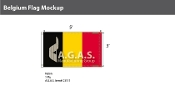 Belgium Flags 3x5 foot