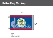 Belize Flags 12x18 inch